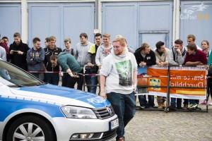 Junge Erwachsene mit der Polizei unterwegs (Foto: René Gunst)